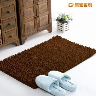 【G+居家】超細纖維長毛吸水止滑地墊腳踏墊(40X60公分-深咖啡)