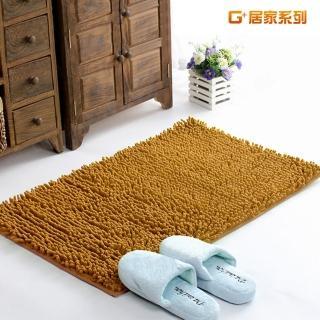【G+居家】超細纖維長毛吸水止滑地墊腳踏墊(40X60公分-淺咖啡)