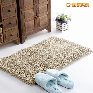 【G+居家】超細纖維長毛吸水止滑地墊腳踏墊(40X60公分-亮米白)