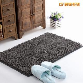 【G+居家】超細纖維長毛吸水止滑地墊腳踏墊(40X60公分-時尚灰)