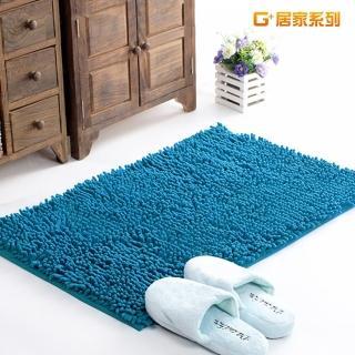 【G+居家】超細纖維長毛吸水止滑地墊腳踏墊(40X60公分-海洋藍)