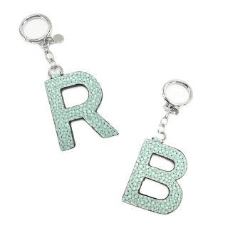 【MICHAEL KORS】皮革字母造型鑰匙圈吊飾(2款選)   Michael Kors
