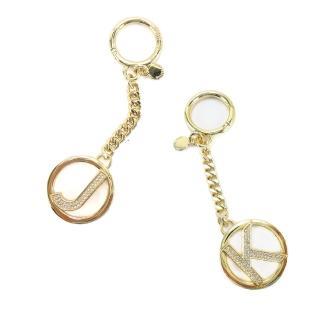 【MICHAEL KORS】晶鑽LOGO字母鑰匙圈吊飾(2款選)  Michael Kors