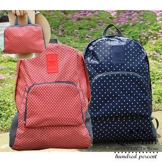 【DF Queenin日韓】韓版折疊式輕便後背包(共2色)
