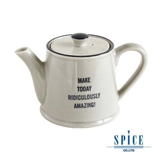 【日本 SPICE】典雅 氣質風 灰色 陶瓷紋理(茶壺杯)