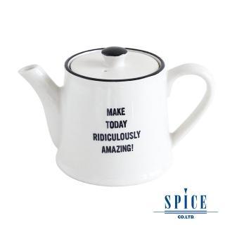 【日本 SPICE】典雅 氣質風 白色 陶瓷紋理(茶壺杯)