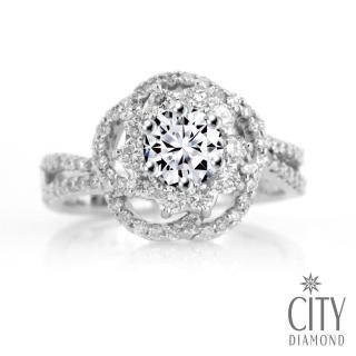 【City Diamond引雅】『雅典娜』1克拉H&A鑽戒