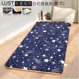 【Lust 生活寢具】3尺《兩用學生床墊》冬夏兩用˙三折好收納˙ 多款花色˙ 杜邦透氣棉
