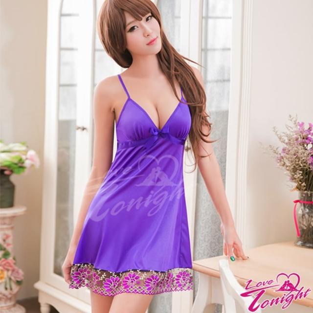 【LOVE TONIGHT】紫灩飄花.睡衣(T1467-紫-F)
