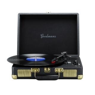 【Goodmans】Ealing Turntable 英國手提箱黑膠唱片機(黑色)