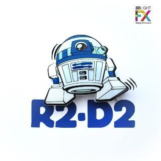 【3D Light FX加拿大原裝出品】星際大戰 迷你系列STAR WARS— R2D2(3D立體 Q 版造型 LED壁燈)