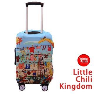 【LittleChili】行李箱套512(歡樂動物L)
