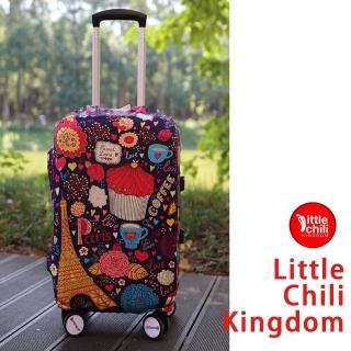 【LittleChili】行李箱套540(巴黎甜心M)