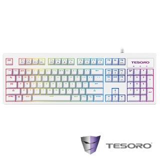 【TESORO鐵修羅】Excalibur RGB V2神劍幻彩版機械式鍵盤-青軸中文白
