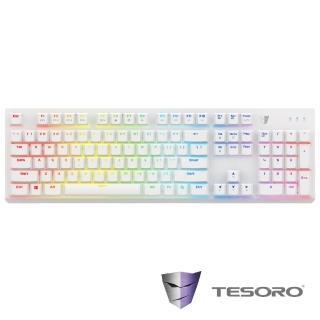 ~TESORO鐵修羅~剋龍劍Gram RGB機械式鍵盤~青軸中文白