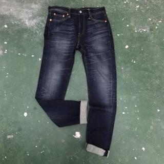 【Levis】510 緊身窄管重磅丹寧牛仔褲-深藍