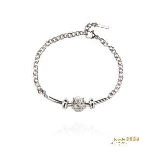 【J'code 真愛密碼】守護愛情銀鋼手鍊-小(摩登銀飾)