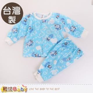 【魔法Baby】0-2歲嬰幼兒兒套裝 台灣製薄長袖居家套裝(k60088)