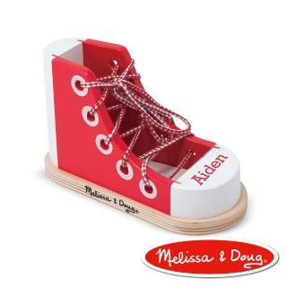 【美國瑪莉莎 Melissa & Doug】綁鞋帶練習鞋