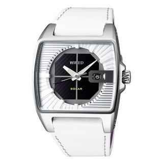 【ALBA】WIRED 純真白日系條紋太陽能潮流腕錶(V145-X013Z / AUA007X)