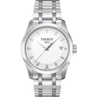 【TISSOT】天梭 建構師時尚石英女錶-銀/32mm(T0352101101600)