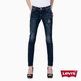 【Levis】711 緊身窄管牛仔褲 / 個性拼接 / 破壞 / 亞洲版