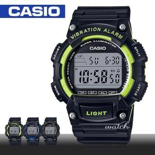 【CASIO 卡西歐】當兵首選_防水_LED背光_秒錶_男錶_女錶_學生錶(W-736H)