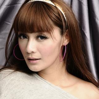 【Lady c.c.】簡潔桃粉細版小圈圈耳環