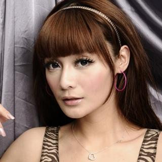 【Lady c.c.】簡潔桃粉細版大圈圈耳環