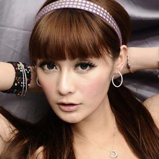 【Lady c.c.】簡潔純白細版小圈圈耳環