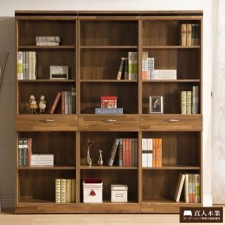 【日本直人木業】BRAC層木三個1抽180CM書櫃