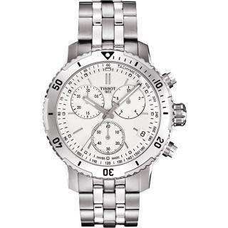 【TISSOT】天梭 PRS 200系列三眼計時腕錶-白/42mm(T0674171103101)