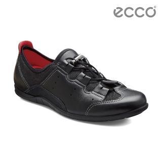 【ECCO】BLUMA 女快速扣休閒鞋(黑 23077353859)