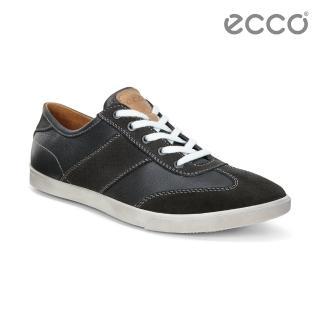 【ECCO】COLLIN 男綁帶休閒鞋(黑 53589456586)