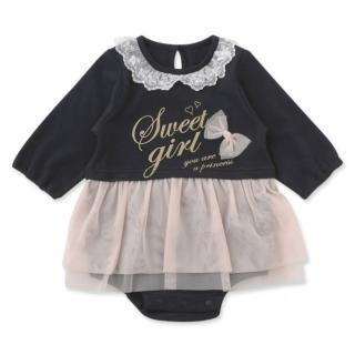 【日本 Nishiki】長袖紗裙包屁衣洋裝 - 黑色Sweet Girl(P2399-BK)