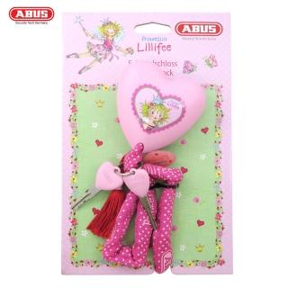 【ABUS德國防盜鎖】1510 PRINCESS LILLIFEE 60cm粉紅公主造型鎖頭單車愛心型鑰匙鎖