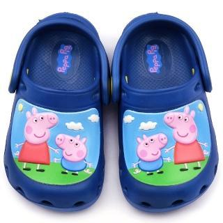 【童鞋城堡】粉紅豬小妹 中童 花園鞋(PG0001-藍)