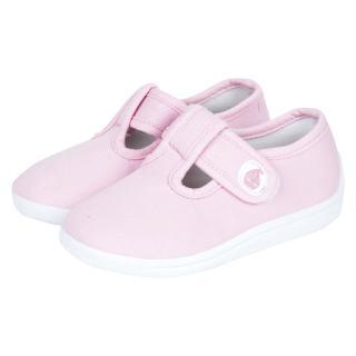 【英國 JoJo Maman BeBe】嬰幼兒童帆布鞋/休閒鞋_淡粉(JJCV1-003)