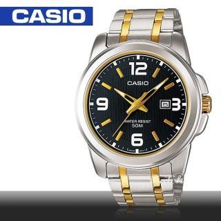 【CASIO 卡西歐】送禮首選_日期顯示_不鏽鋼錶帶_防水_三重折疊扣_男錶(MTP-1314SG)