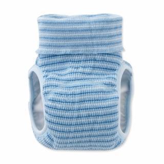 【日本 Nishiki】日本製 肚圍型/可加尿布墊保暖彈性學習褲/尿布褲 - 藍色條紋(C4071-BL)