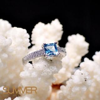 【SUMMER寶石】天然《藍色拓帕石》設計款戒指(-P2-15)