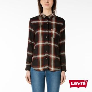 【Levis】女款長袖牛仔襯衫 / 單口袋 / 格紋 / BOYFRIEND版型