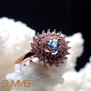 【SUMMER寶石】天然《藍色拓帕石》設計款戒指(P6-9)