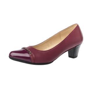 【Kimo德國手工氣墊鞋】流行漆皮城市風簡約修身淑女鞋-知性紅(K16WF045147)