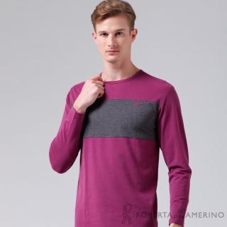 【ROBERTA諾貝達】台灣製 超柔軟 禦寒保暖 長袖POLO棉衫(深紫)