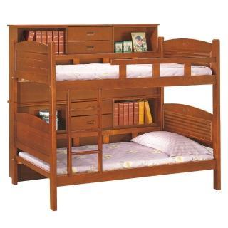【顛覆設計】奇班3.75尺邊櫃雙層床組(兩色可選.不含床墊)