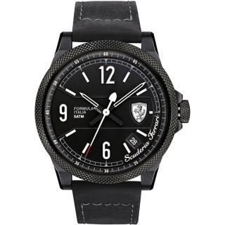 【法拉利 Scuderia Ferrari】經典工藝時尚男用皮帶腕錶(46mm/FA0830272)
