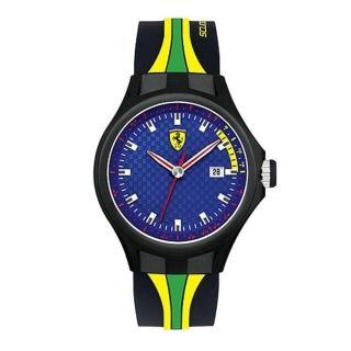 【法拉利 Scuderia Ferrari】賽車牙買加簡約時尚男用腕錶(44mm/FA0830071)