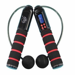 【PUSH!休閒運動用品】有氧運動有線無線兩用跳繩 加重設計卡路里跳繩(兩色)