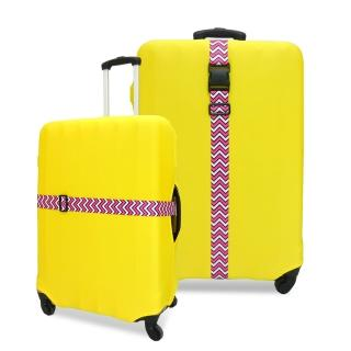 【JIDA】格紋行李箱束帶(2色)
